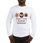 Peace Love Scottish Deerhound Long Sleeve T-Shirt
