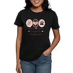 Peace Love Scottish Deerhound Women's Dark T-Shirt