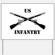 Infantry Branch Insignia (3a) Yard Sign
