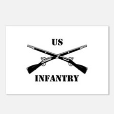 Infantry Branch Insignia (3a) Postcards (Package o