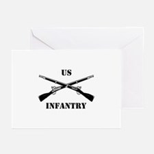 Infantry Branch Insignia (3a) Greeting Cards (Pk o