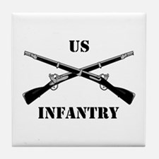 Infantry Branch Insignia (3a) Tile Coaster