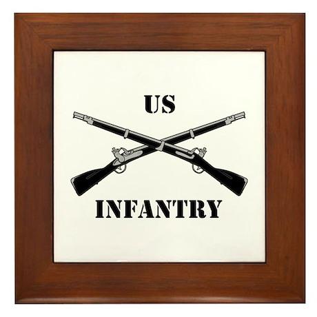 Infantry Branch Insignia (3a) Framed Tile