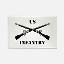 Infantry Branch Insignia (3a) Rectangle Magnet