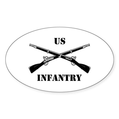 Infantry Branch Insignia (3a) Oval Sticker