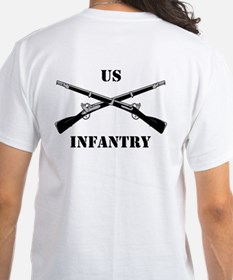 2-Sided Infantry Branch Insignia (3a) Shirt