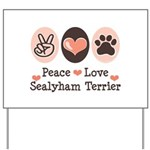 Peace Love Sealyham Terrier Yard Sign
