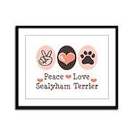 Peace Love Sealyham Terrier Framed Panel Print
