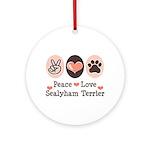 Peace Love Sealyham Terrier Ornament (Round)