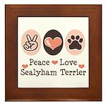 Peace Love Sealyham Terrier Framed Tile