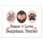 Peace Love Sealyham Terrier Small Poster