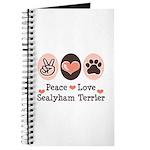 Peace Love Sealyham Terrier Journal