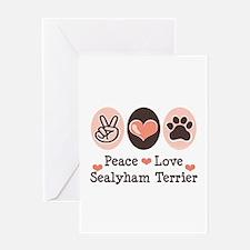 Peace Love Sealyham Terrier Greeting Card