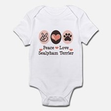 Peace Love Sealyham Terrier Infant Bodysuit