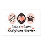 Peace Love Sealyham Terrier Postcards (Package of