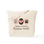 Peace Love Sealyham Terrier Tote Bag