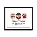 Peace Love Sheltie Framed Panel Print