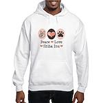 Peace Love Shiba Inu Hooded Sweatshirt