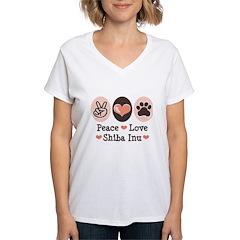 Peace Love Shiba Inu Shirt