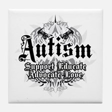 Autism Tribal 2 Tile Coaster