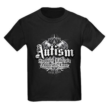 Autism Tribal 2 Kids Dark T-Shirt
