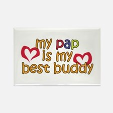 Pap is My Best Buddy Rectangle Magnet