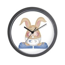 Little Bunny Boy Wall Clock
