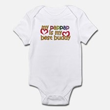 PapPap is My Best Buddy Infant Bodysuit
