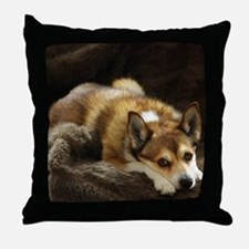 Lundehund/Puffin Dog Throw Pillow
