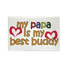 Papa is My Best Buddy Rectangle Magnet (10 pack)