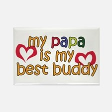 Papa is My Best Buddy Rectangle Magnet