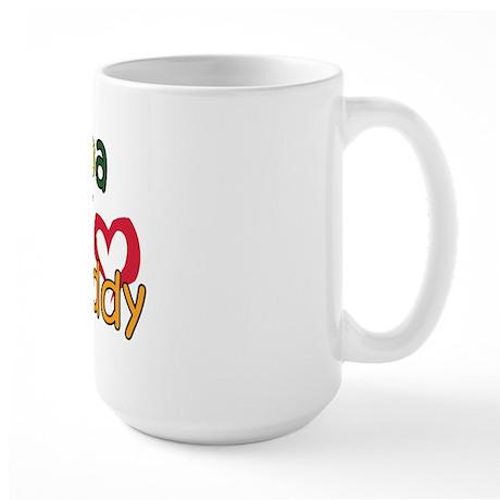 Papa is My Best Buddy Large Mug