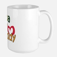 Papa is My Best Buddy Large Mug
