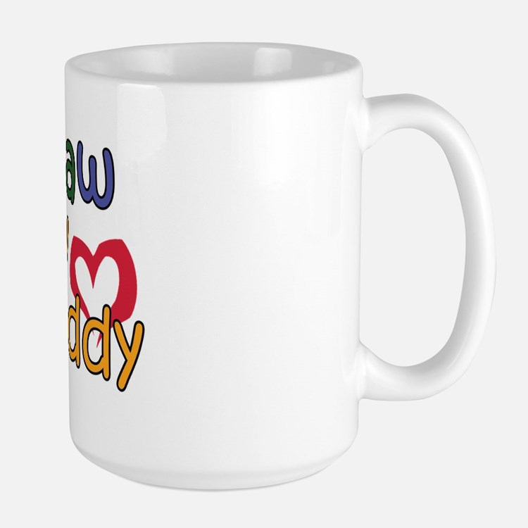Papaw is My Best Buddy Large Mug