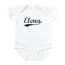 Vintage Elena (Black) Infant Bodysuit
