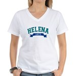 Helena Teal Banner Women's V-Neck T-Shirt