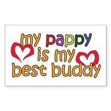 Pappy is My Best Buddy Rectangle Decal