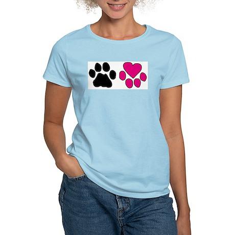 Heart Paw Women's Light T-Shirt
