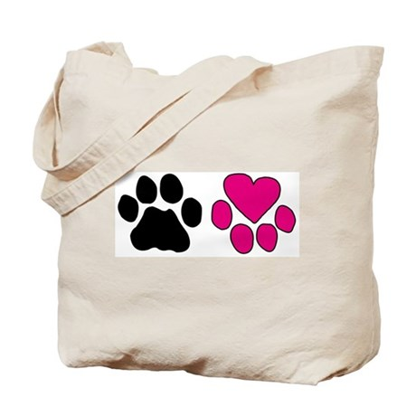 Heart Paw Tote Bag