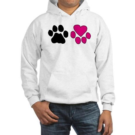 Heart Paw Hooded Sweatshirt