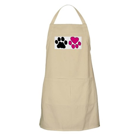 Heart Paw BBQ Apron