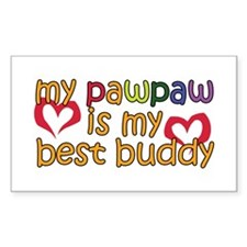 PawPaw is My Best Buddy Rectangle Decal