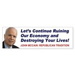 McCain - Republican Traditional Bumper Sticker