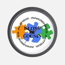 Autism Awrnss - Love Cousin Wall Clock