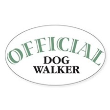 Dog Walker Oval Decal