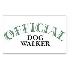 Dog Walker Rectangle Decal