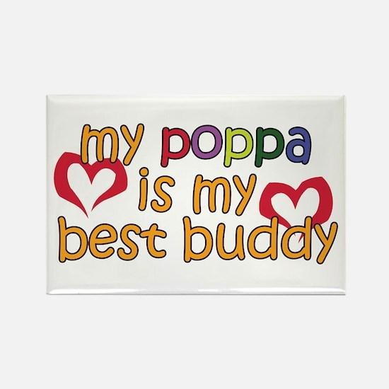 Poppa is My Best Buddy Rectangle Magnet