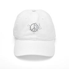 Swirls Peace Sign Baseball Cap