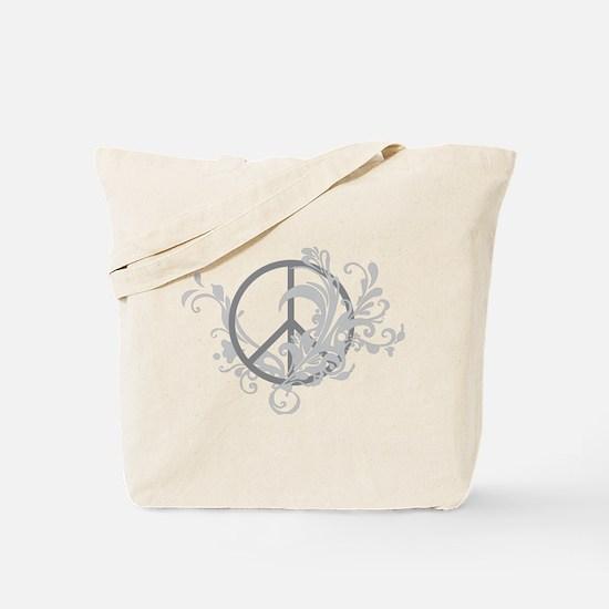 Swirls Peace Sign Tote Bag