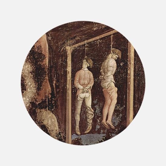 """Pisanello Gallows 3.5"""" Button"""